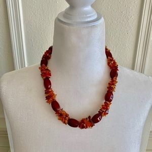 Jewelry - Carnelian/Amber Beaded Necklace